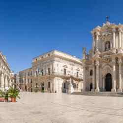 Piazza Duomo und der Kathedrale von Syrakus